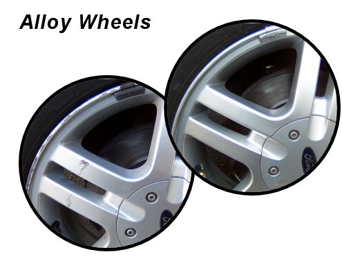 Scuffed alloy wheels restored to a high standard
